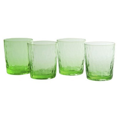 Artland Ripple Double Old Fashioned Glass Set of 4 - Green (13 oz)
