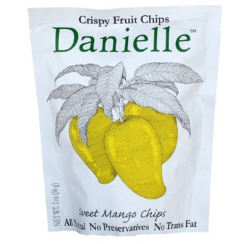 Danielle Crispy Fruit Chips, Sweet Mango, 2-Ounce Bags (Pack of 6)