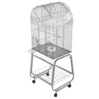 A&e Cage Dome Top Bird Cage with Plastic Base and Stand Color: Sandstone