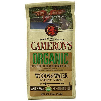 Camerons Cameron's Organic Woods and Waters Whole Bean Coffee, 12-Ounce Bags (Pack of 3)