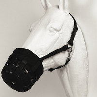 Best Friend Equine Deluxe Horse Grazing Muzzle Black Large - BF02