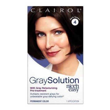 Clairol Nice 'n Easy Gray Solution Hair Color, Dark Brown (004)