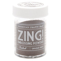 American Crafts Zing! Opaque Embossing Powder 1 Oz-Chestnut