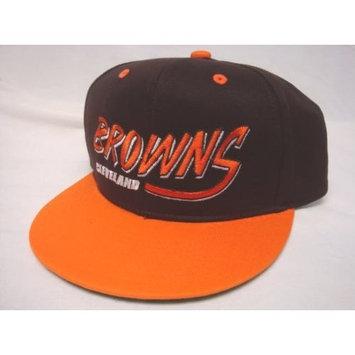 Reebok Cleveland Browns NFL Two Tone Vintage Snapback Flatbill Cap / Hat