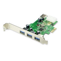 Syba PCI-Express USB 3.0 3+1 Port Card Renesas Chipset with LPB Molex Power