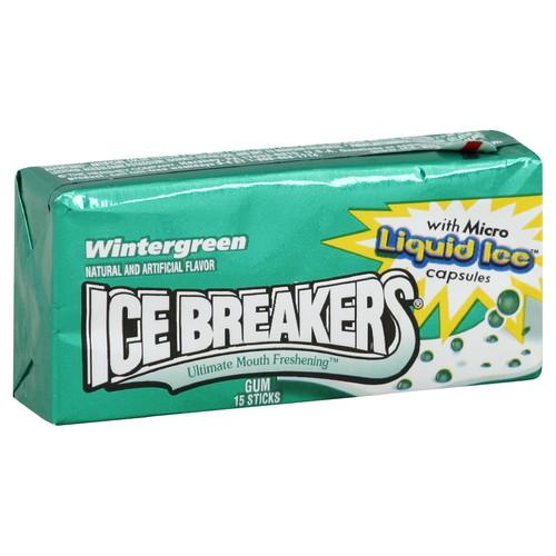 Ice Breakers Gum, Wintergreen, 15 sticks