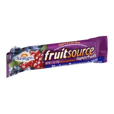 SunRype Fruit Source Superfruits Bar Blueberry Pomegranate