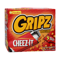 Sunshine Cheez-It Gripz Mighty Tiny Baked Snack Crackers  - 9 Pack