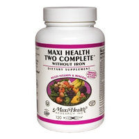 Maxi Two Complete -easily digested without iron 120 Capsules, 4-Ounce Bottle
