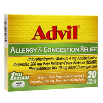 Pfizer Advil Allergy and Congestion Relief Tablets - 20 Count