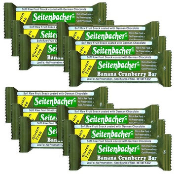 Seitenbacher Gluten Free Banana Cranberry Bar, 1.8-Ounce Bars (Pack of 12)
