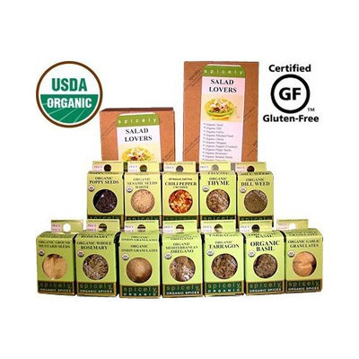 Spicely Organic Spices Gift Set Salad Lovers 12-box Sampler .... Low Rate Shipping