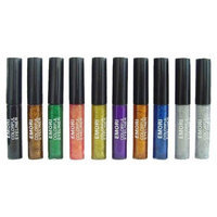Emori TM Diamond Glitter & Shimmer Style 10 Piece Liquid Eyeliner Eyeshadow Color Set + Microfiber Pouch Bag
