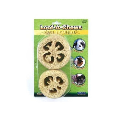 Ware Natural Loof-A-Chews Small Pet Chew Treat, Large, Pack of 2
