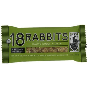 18 Rabbits Haute Diggity Date, Organic Granola Bar, 1.9-Ounce Bars (Pack of 12)