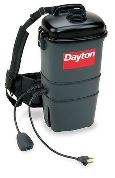 DAYTON 4TR10 Aircraft Backpack Vacuum, 7 qt, 7.5A