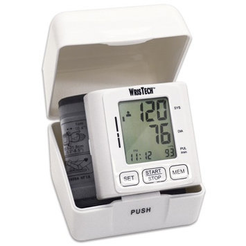Jobar International Blood Pressure Monitor Fits On Wrist Includes Storage Case Large LCD Screen
