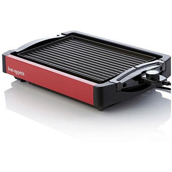 Bon Appetit BARGG010R Reversible Grill / Griddle in Red Finish