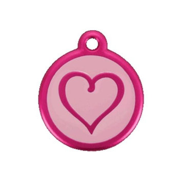 Red Dingo 05-TH-HP-SM QR Tag Introductory Heart Hot Pink Small
