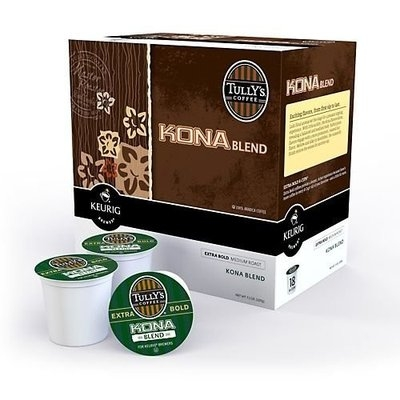 Keurig Tully's Kona Blend Coffee - K-Cup - 18-Count