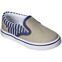 Toddler Boy's Circo Huck Canvas Sneakers - Khaki/Navy 11