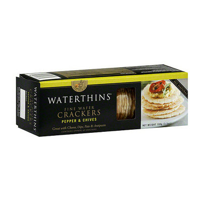 Waterthins Fine Wafer Pepper & Chives Crackers