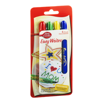 Betty Crocker Easy Writer Food Decorators - 4 CT