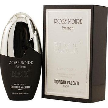 Rose Noire Black by Giorgio Valenti For Men. Eau De Toilette Spray 3.4-Ounces