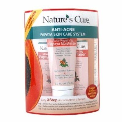 Nature's Cure Anti-Acne Papaya Skin Care System