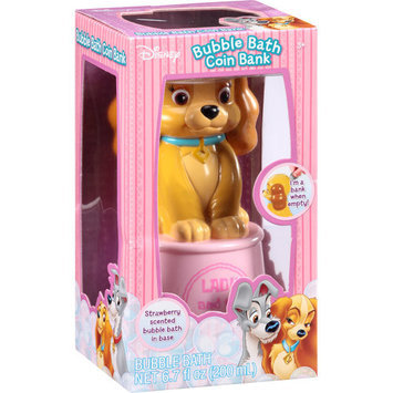 Disney Lady & the Tramp Bubble Bath Coin Bank, 6.7 fl oz