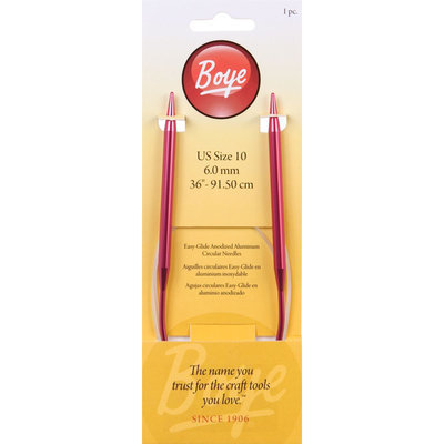 Boye Circular Aluminum Knitting Needles 36
