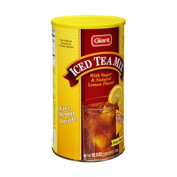 Giant Natural Lemon Flavor Iced Tea Mix
