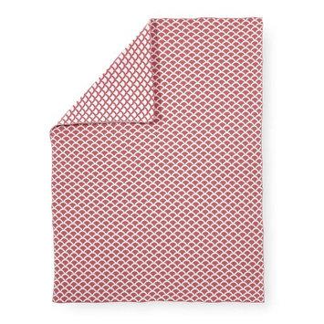 Koala Baby Neutral Scale Print Jacquard Knit Blanket - Coral