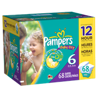 Pampers Baby Dry Diapers Size 6 Super Pack 68 Count