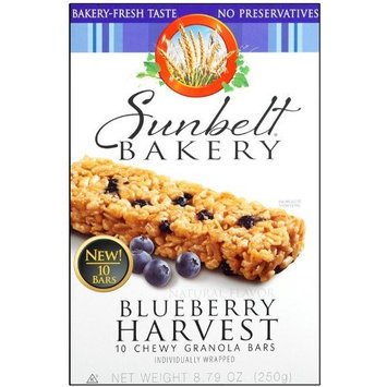 Sunbelt Bakery Blueberry Harvest Chewy Ganaola Bars 10 Ct 3 Pack