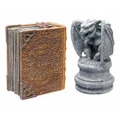 Hydor H2Show Magic World - Gargoyle and Book Decoration Combo Pack