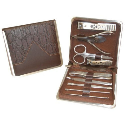 Stainless Steel Deluxe Manicure Set By The Lighthouse