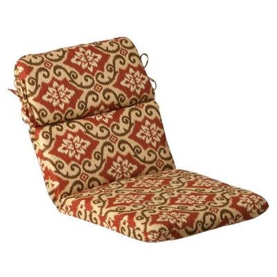 Pillow Perfect Outdoor Chair Cushion - Tan/Orange Geometric