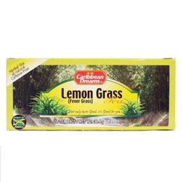 Caribbean Dreams Lemon (Fever) Grass Tea, 24 tea bags