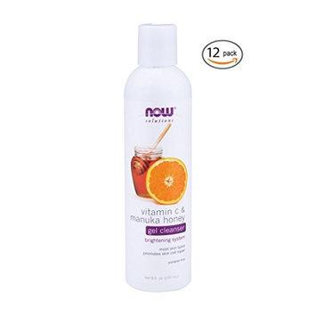 Now Foods Vitamin C & Manuka Honey Gel Cleanser - 8 fl. oz. 12 Pack
