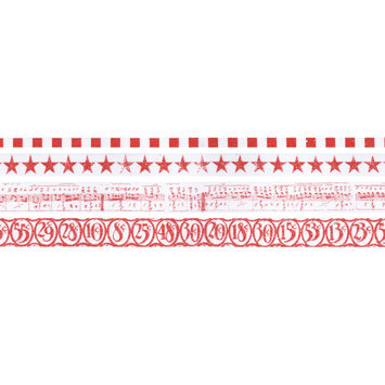 Leeco Industries Inc. Idea-Ology Tissue Tape 4 Styles/10 Yards Each Merriment Red