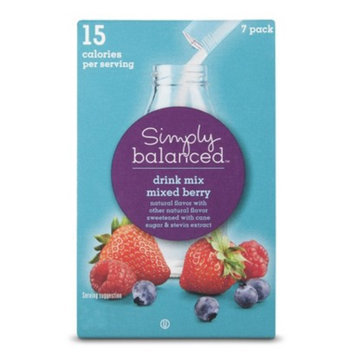 Simply Balanced Mixed Berry Drink Mix Packets 7 ct