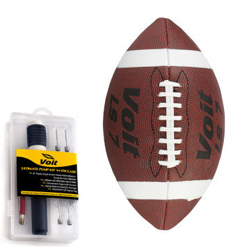 Lion Sports Inc. Junior Synthetic Sponge Football with Ultimate Inflating Kit