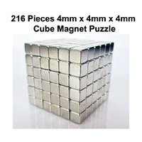 Earth 4mm x 4mm x 4mm 216 Piece Magnetic Puzzle Cubes