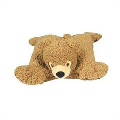 HuggleHounds Bear Squares Dog Toy, Brown
