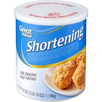 Great Value: Shortening, 42 oz
