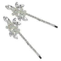 Roman & Sunstone Social Gallery by Roman Bobby Pin Crystal - Silver/Clear