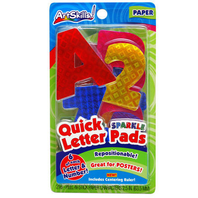 Generic Artskills Holographic Quick Letter & Number Pads, 216pc