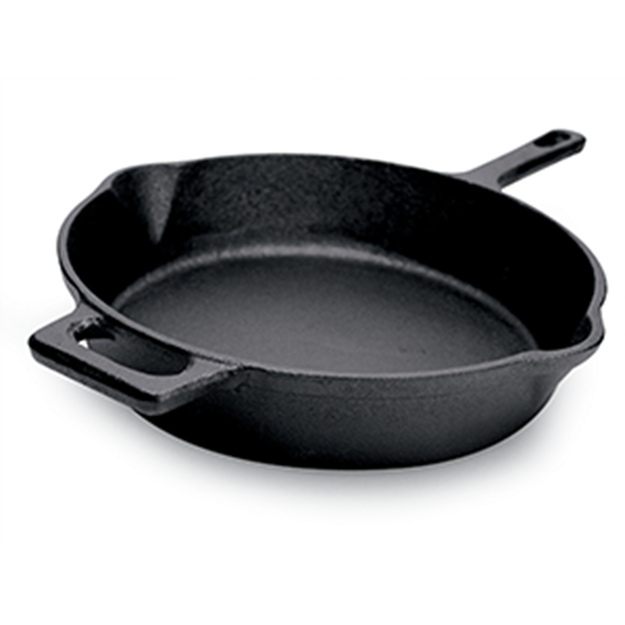 Ecolution Farmhouse Cast Iron Pre Seasoned 9.5 in. Fry Pan EOBK-5124