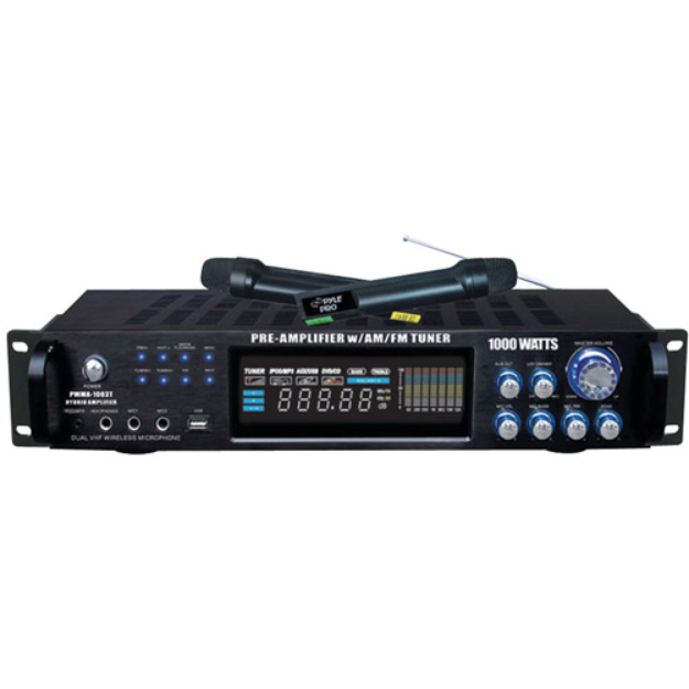 PylePro PYLE PRO PWMA1003T 1000-Watt Hybrid Pre-Amplifier and Wireless Microphone System